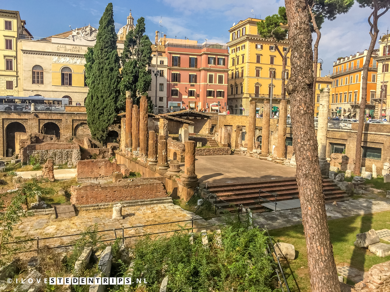 Curia Pompei waar Julius Caesar is vermoord.