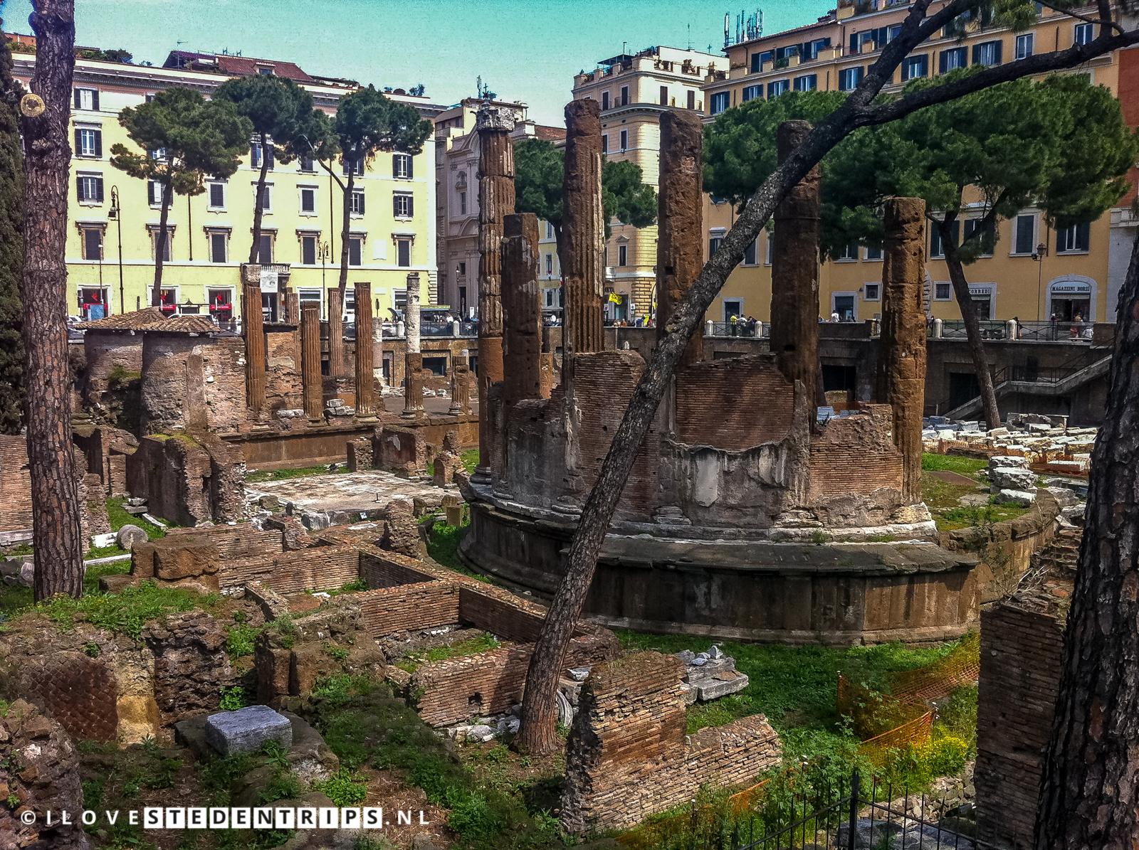 Area Sacra di Largo Argentina met de Curia Pompei
